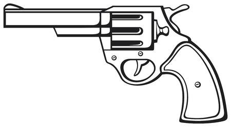 handgun  pistol vector, pistol gun, old revolver  Stock Vector - 18661313