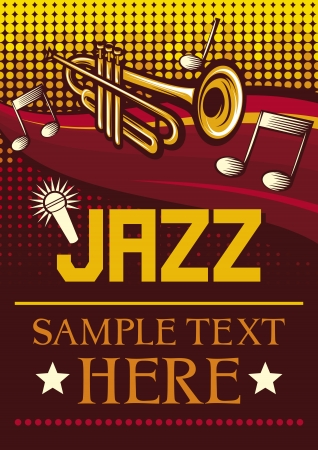 jazz poster  jazz party poster, the concert poster Stock Vector - 18661951