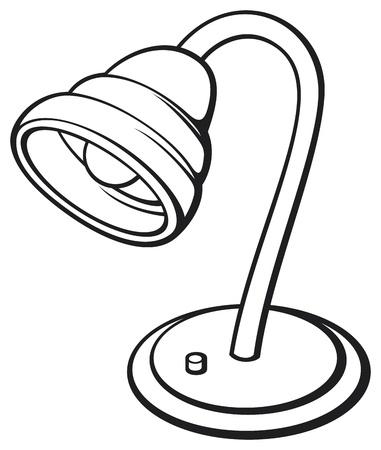 reflector: white desk lamp  retro electric lamp