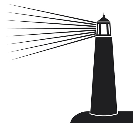 Lighthouse: vector illustration of lighthouse  lighthouse icon, lighthouse silhouette  Illustration
