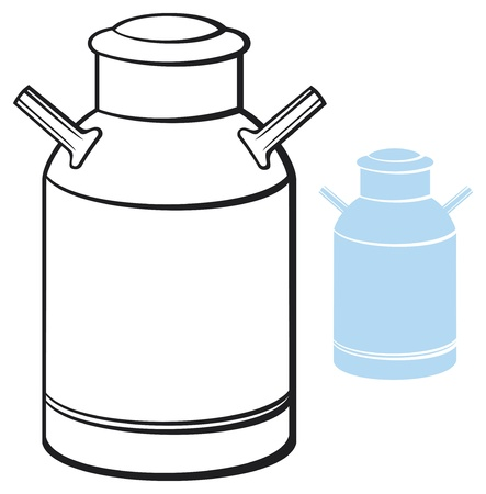 nutritive: milk can  retro aluminum milk can  Illustration