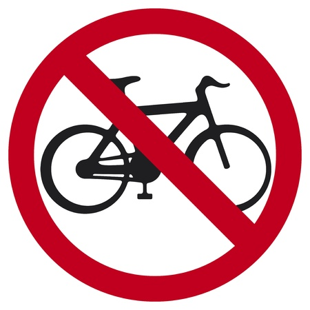 no bicycle sign  no bikes symbol  Stock Vector - 18660599