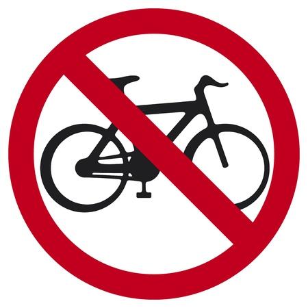 abstain: no bicycle sign  no bikes symbol