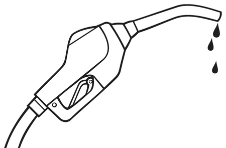 octane: fuel pump vector  gasoline fuel nozzle, gas pump hose, gas pump hose fuel dispenser  Illustration