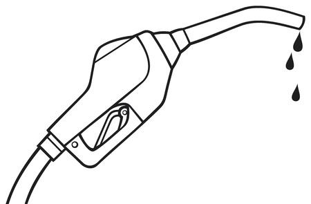 refueling: fuel pump vector  gasoline fuel nozzle, gas pump hose, gas pump hose fuel dispenser  Illustration
