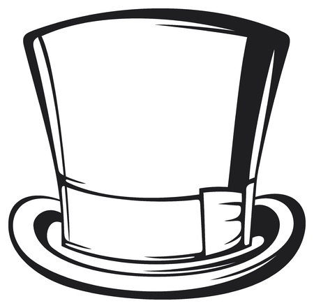 flapping: top hat  black gentleman hat