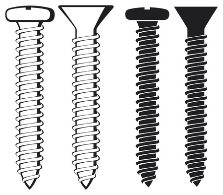 vector illustration of screws Stock Vector - 18661671
