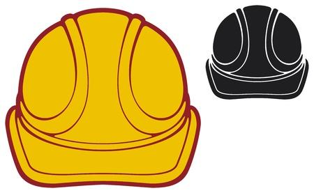 hard cap: construction workers hard hat  protective helmet  Illustration