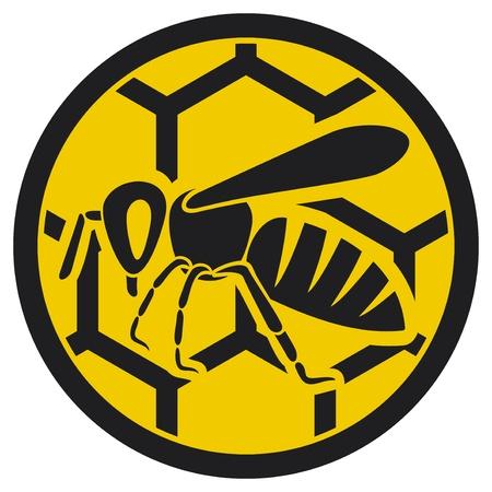 abeja miel de abeja icono signo, símbolo abeja Ilustración de vector