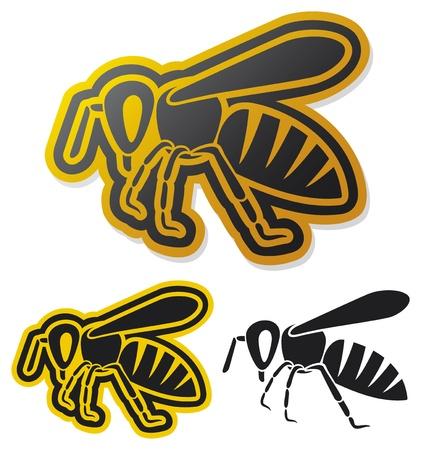 abeja reina: abeja icono de miel de abeja Vectores