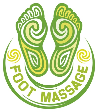 girls feet: foot massage symbol  foot massage design, foot massage sign  Illustration