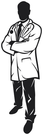 medical doctor (doctor silhouette) Vector Illustration
