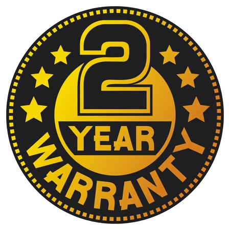 2 year warranty (two year warranty) Vector