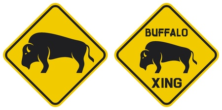 warning buffalo sign Stock Vector - 18818748