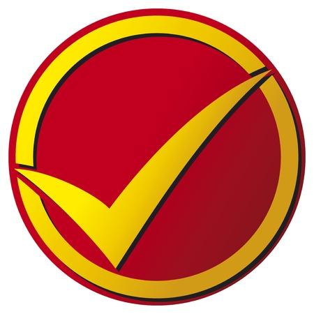 Check mark button (Check mark icon) Stock Vector - 18787560