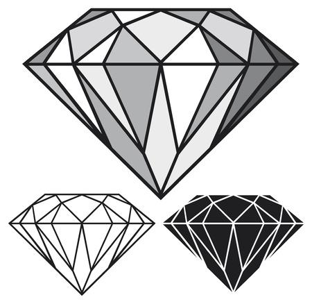 stein schwarz: Diamant Illustration