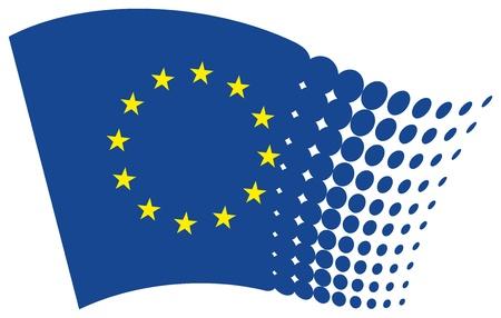 eu flag: european union flag (eu) Illustration