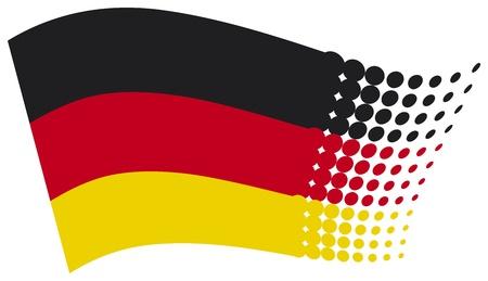 bandera alemania: bandera de la alemania