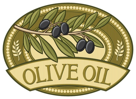 old kitchen: olive oil label