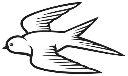 black beak: swallow