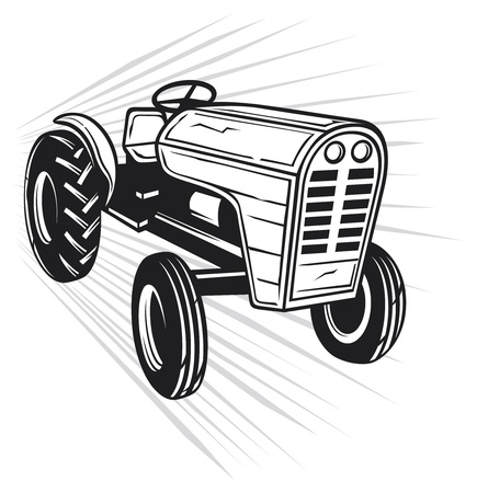 agricultural equipment: tractor Illustration
