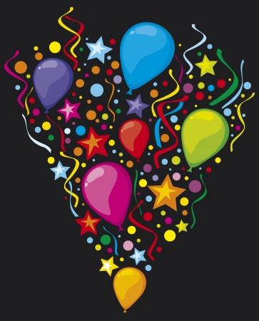 globos fiesta: Parte globos globos coloridos globos de fiesta, dise�o del partido