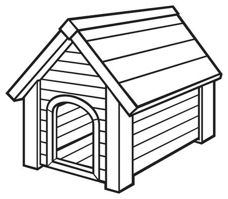 casa de perro: casa de perro Vectores