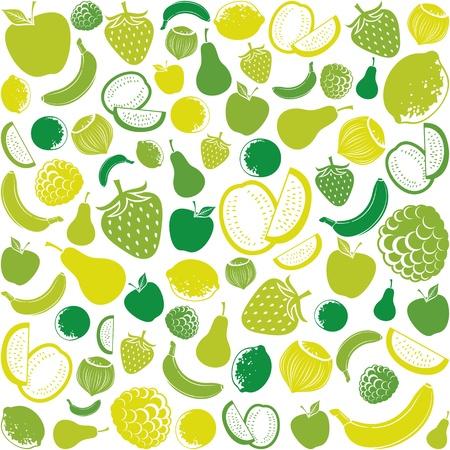 seamless pattern with fruit  fruits background, seamless fruits pattern, fruits seamless background, apple, strawberry, pear, lemon, orange, watermelon, banana, hazelnut