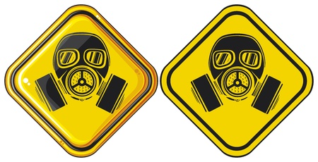 gas mask warning sign: gas mask hazardous sign  gas mask warning sign, army gas mask, mask-protection in the face of the filter, protective gas mask, gas mask danger sign