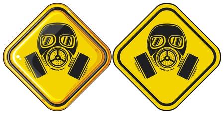 army gas mask: m�scara de signos gas peligroso signo gas mask advertencia, la m�scara de gas ej�rcito, m�scara de protecci�n en el rostro de la, m�scara de gas protector del filtro, muestra del peligro m�scara de gas Vectores