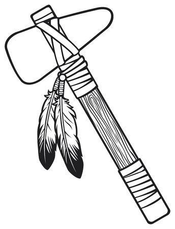 native american tomahawk Stock Vector - 19067841