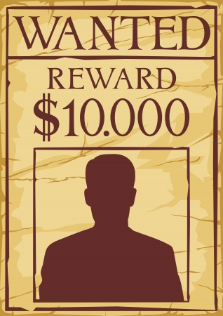 vintage wanted poster   old wanted poster  Stock Vector - 19189261