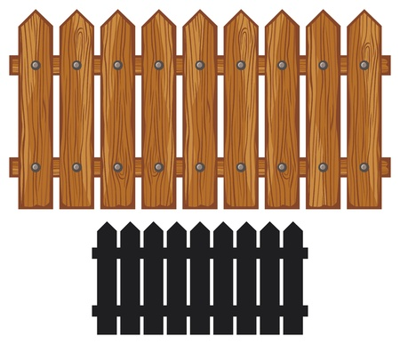 picket fence: wooden fence