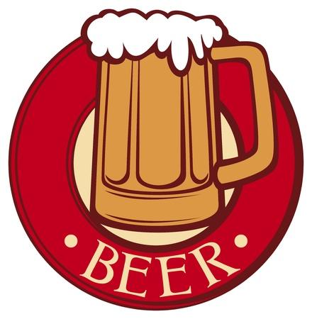 jarra de cerveza: etiqueta de la cerveza taza de cerveza