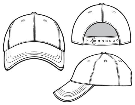 kapaklar: beyzbol şapkası Çizim