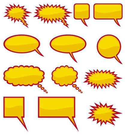 speak bubble: comic speech bubbles