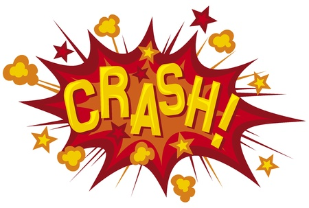 cartoon - crash  comic book element  Vector