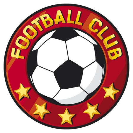 le football club de football symbole, embl�me, conception