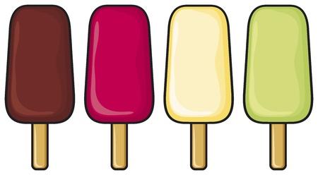 frozen food: ice cream set