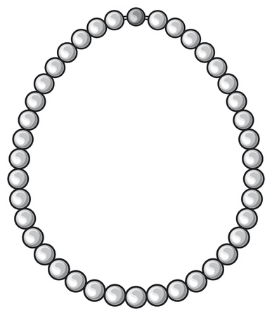 pearl necklace Illustration