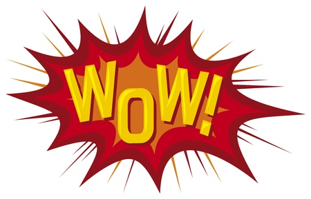 cartoon - wow  comic book  Vector
