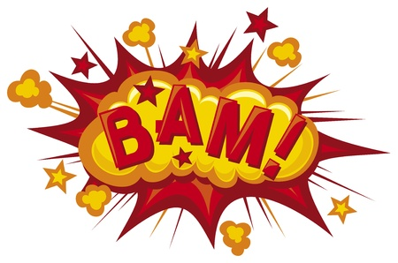 cartoon - bam (Comic bam explosion) Stock Photo - 19317079