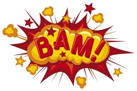 pop star: cartoon - bam (Comic bam explosion) Illustration