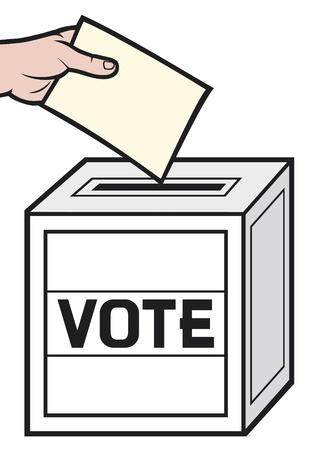 voting ballot: urna electoral Vectores