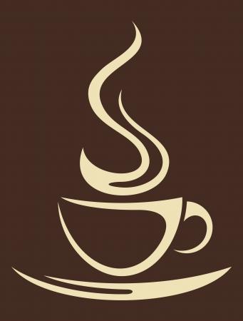 tazas de cafe: taza de café (taza de café) Vectores