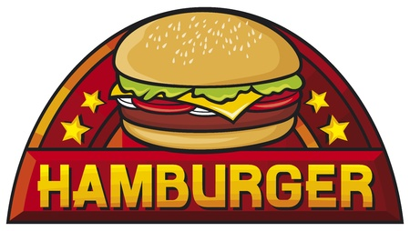 hamburger  hamburger sign, label, design  Vector
