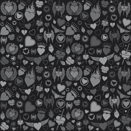 sword and heart: heart seamless pattern  valentine s day background, hearts background