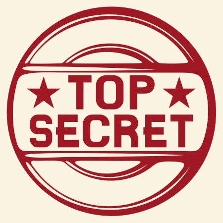 top secret stamp Stock Vector - 19317070