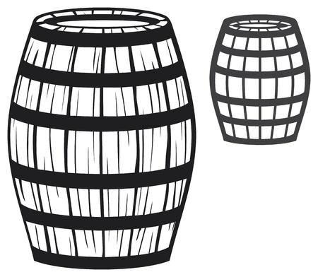 old barrel  wooden barrel