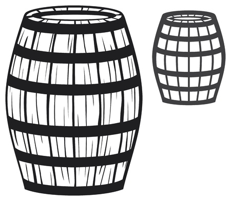 old barrel  wooden barrel  Vector